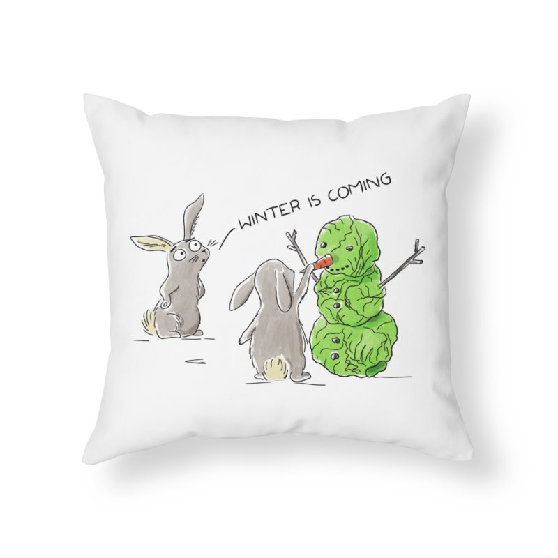 Winter Is Coming Home Throw Pillow by Dorota Wieczorek