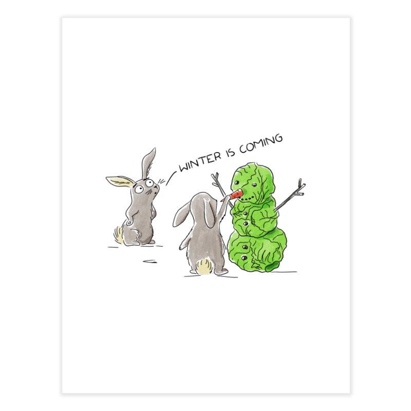 Winter Is Coming Home Fine Art Print by Dorota Wieczorek