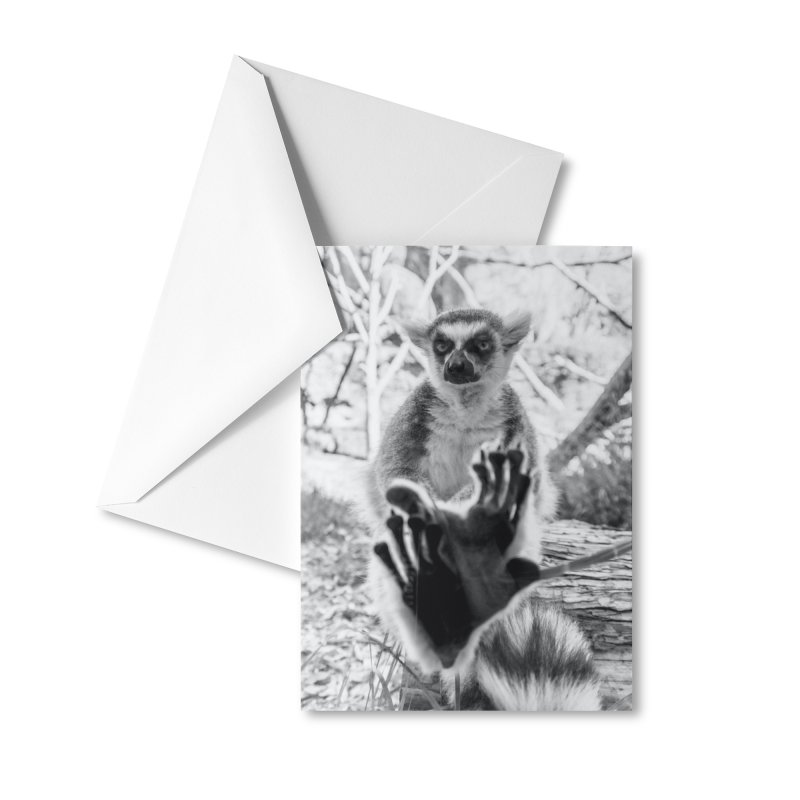 Lemur. Cool. Greeting Card. Accessories Greeting Card by Lemur. Cool.