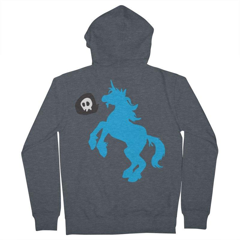 Bad Unicorn Men's Zip-Up Hoody by lemurzink's Artist Shop