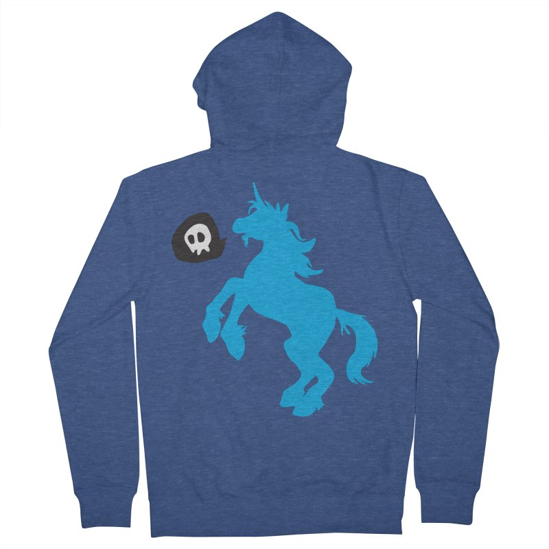Bad Unicorn Men's Zip-Up Hoody by lemurzink's Artist Shop