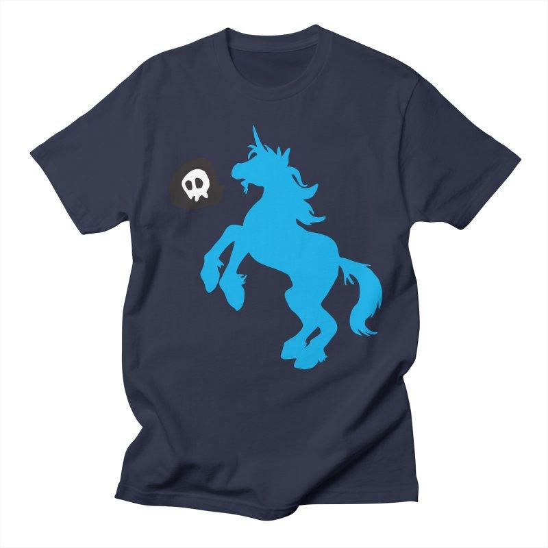 Bad Unicorn Men's T-shirt by lemurzink's Artist Shop
