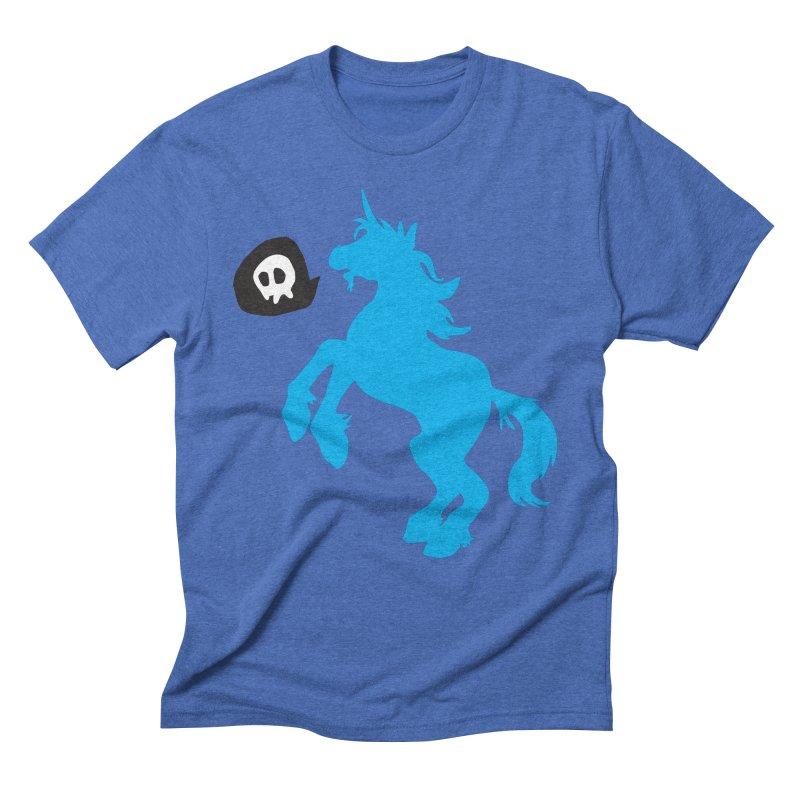 Bad Unicorn Men's Triblend T-shirt by lemurzink's Artist Shop