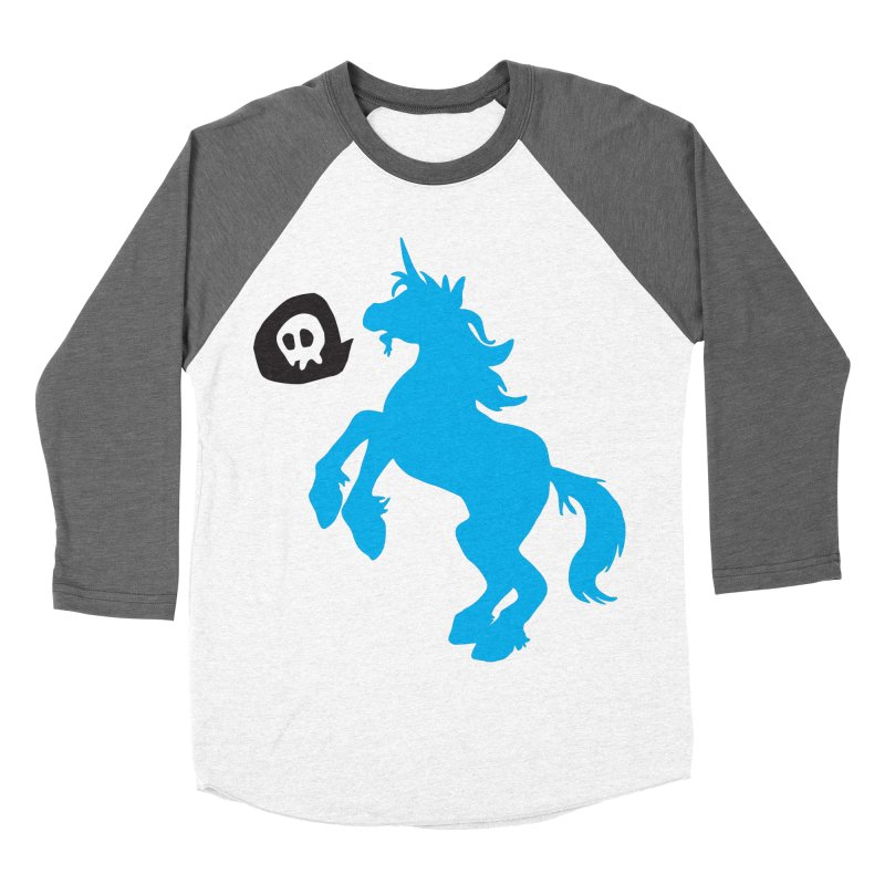 Bad Unicorn Women's Baseball Triblend T-Shirt by lemurzink's Artist Shop