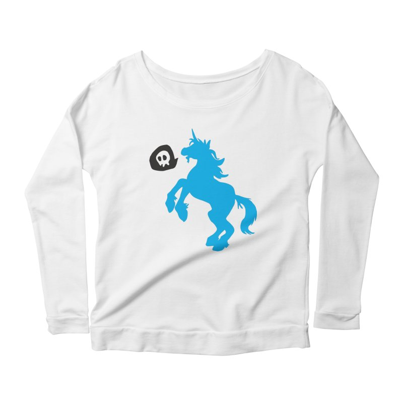 Bad Unicorn Women's Longsleeve Scoopneck  by lemurzink's Artist Shop