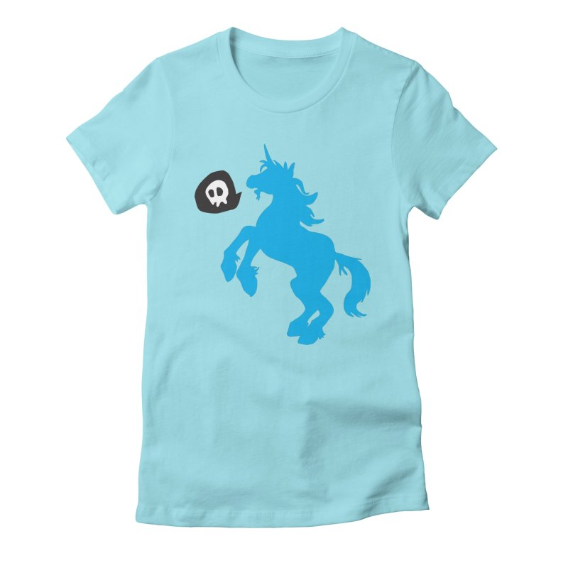 Bad Unicorn Women's Fitted T-Shirt by lemurzink's Artist Shop