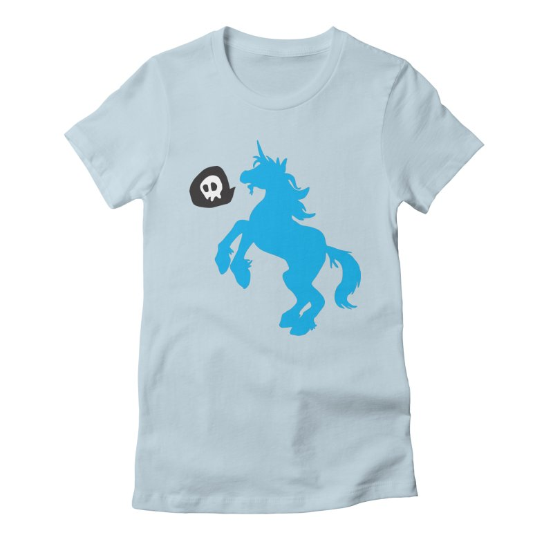 Bad Unicorn Women's Fitted T-Shirt by lemurzink's Artist Shop
