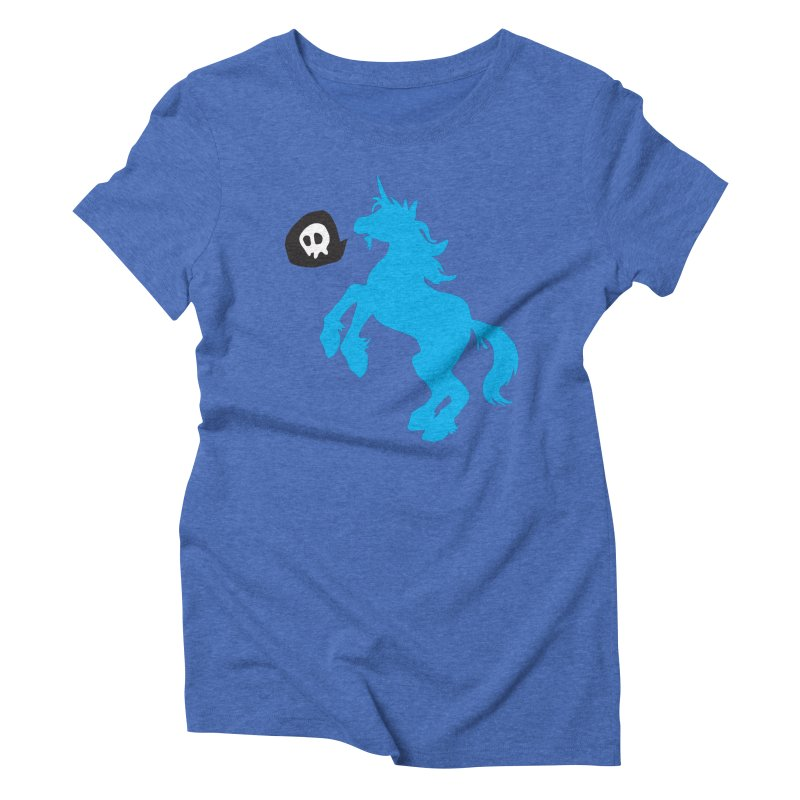 Bad Unicorn Women's Triblend T-shirt by lemurzink's Artist Shop