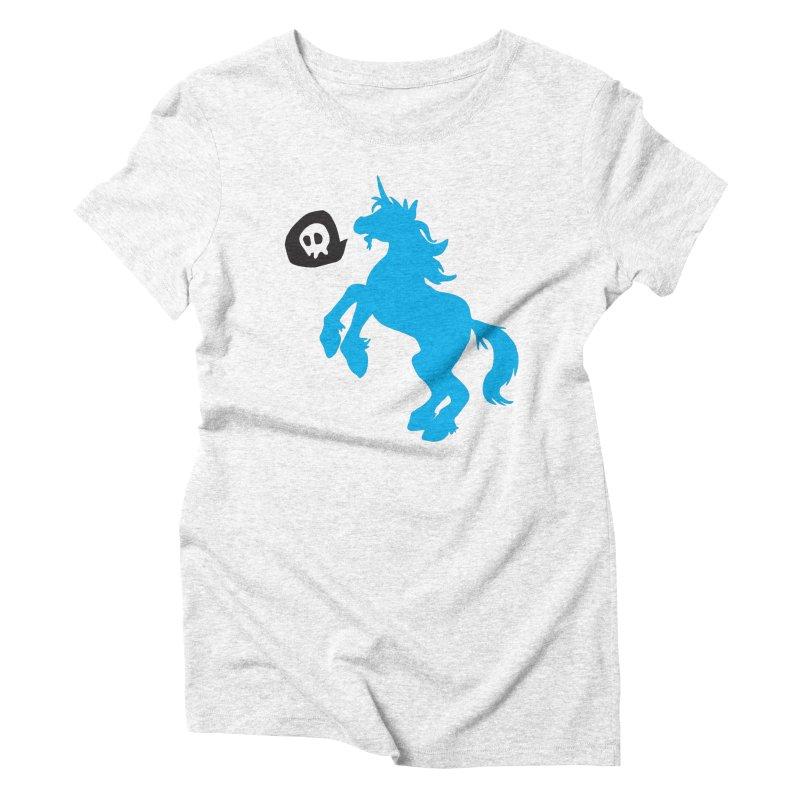 Bad Unicorn Women's Triblend T-shirt by lemurzink's Artist Shop