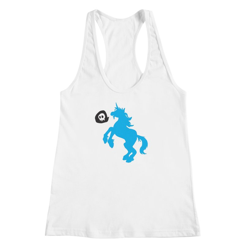 Bad Unicorn Women's Racerback Tank by lemurzink's Artist Shop