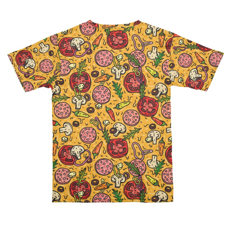 Pizza All Over Men's Cut & Sew by Lena_Graphic Artist Shop