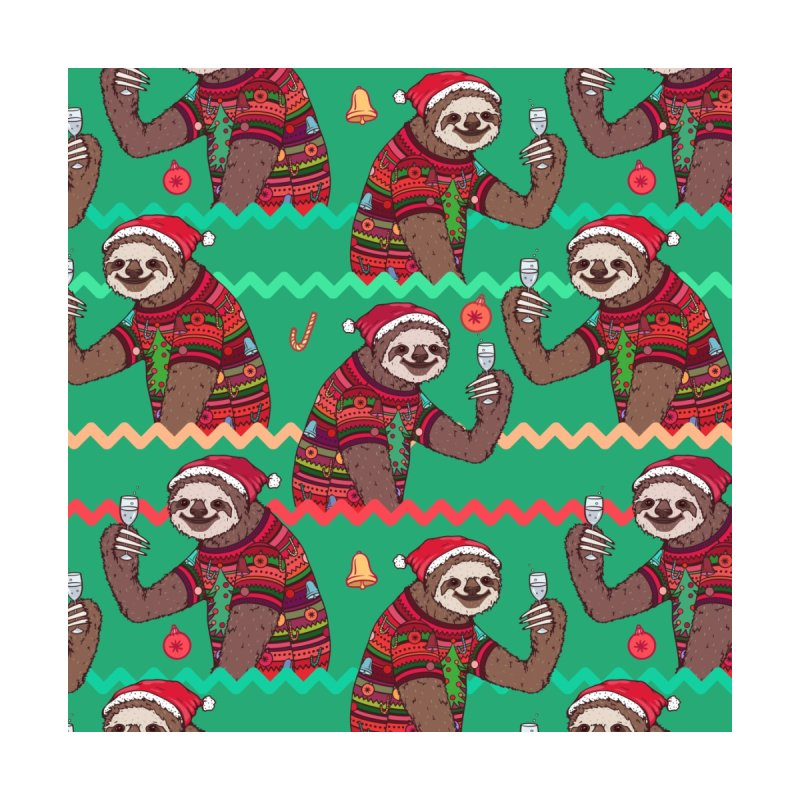Merry Slothmas Ugly Sweater Men's Socks by Lena_Graphic Artist Shop
