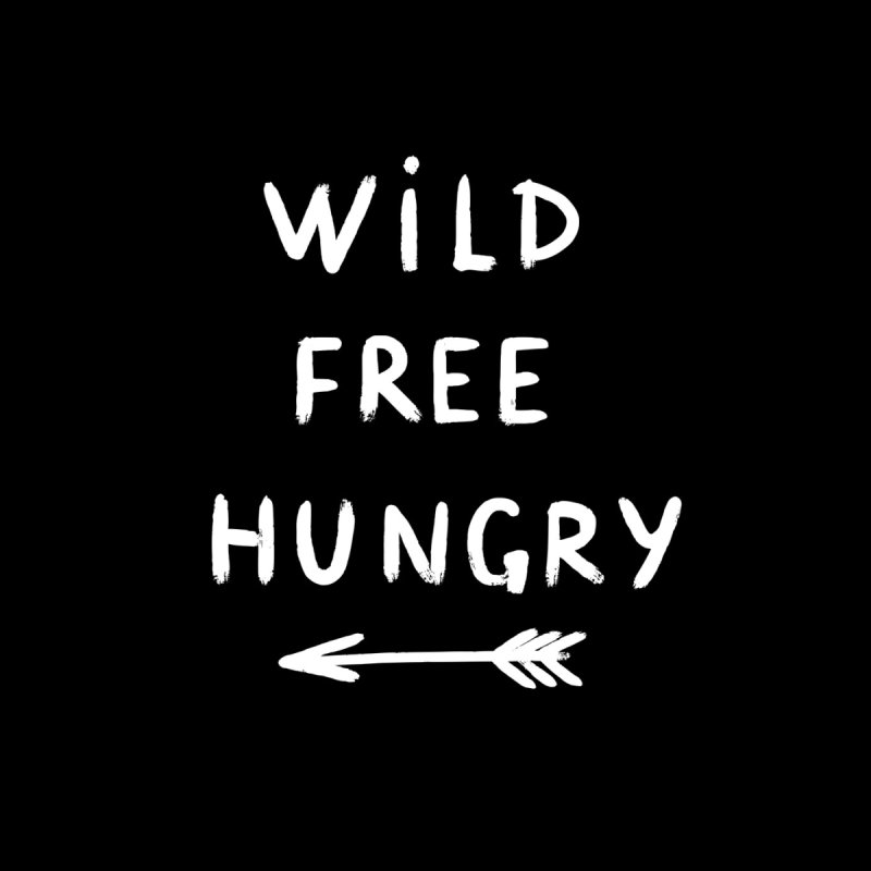 Wild Free Hungry Men's T-Shirt by Lena_Graphic Artist Shop