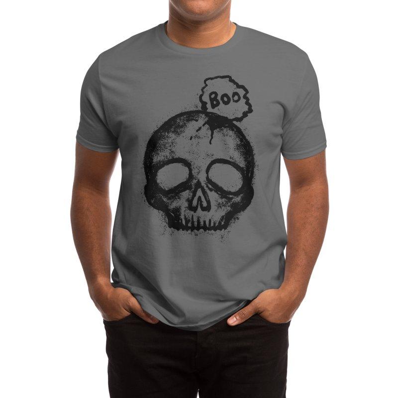 Boo Skull Men's T-Shirt by Lena_Graphic Artist Shop
