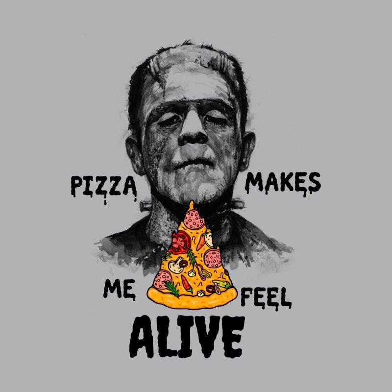 Pizza Makes Me Feel Alive Men's T-Shirt by Lena_Graphic Artist Shop