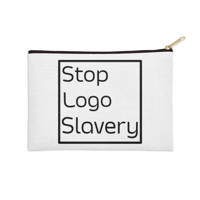 Stop Logo Slavery  Accessories Zip Pouch by Lena Harbali