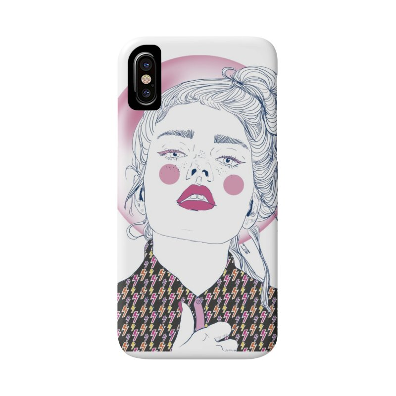 Power Girl in iPhone X Phone Case Slim by Lena Ilustra's Artist Shop