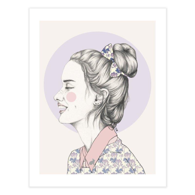 smile Girl in Fine Art Print by Lena Ilustra's Artist Shop