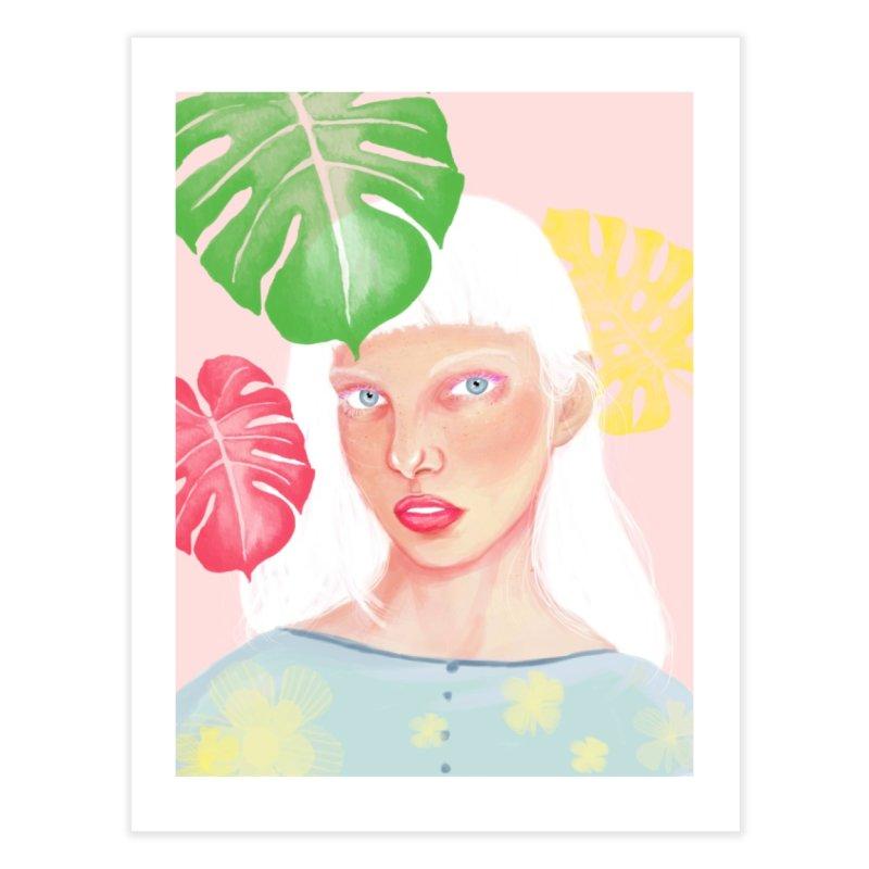 Print Albino Girl in Fine Art Print by Lena Ilustra's Artist Shop