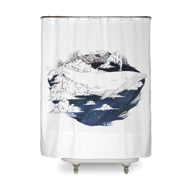 Dream Big Home Shower Curtain by Lenny B. on Threadless