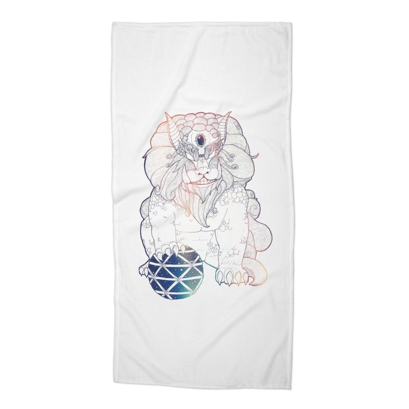 Shisa Accessories Beach Towel by Lenny B. on Threadless