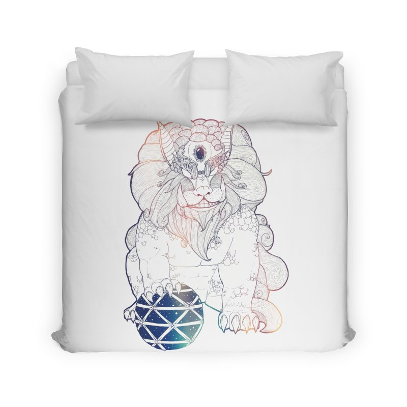 Shisa Home Duvet by Lenny B. on Threadless