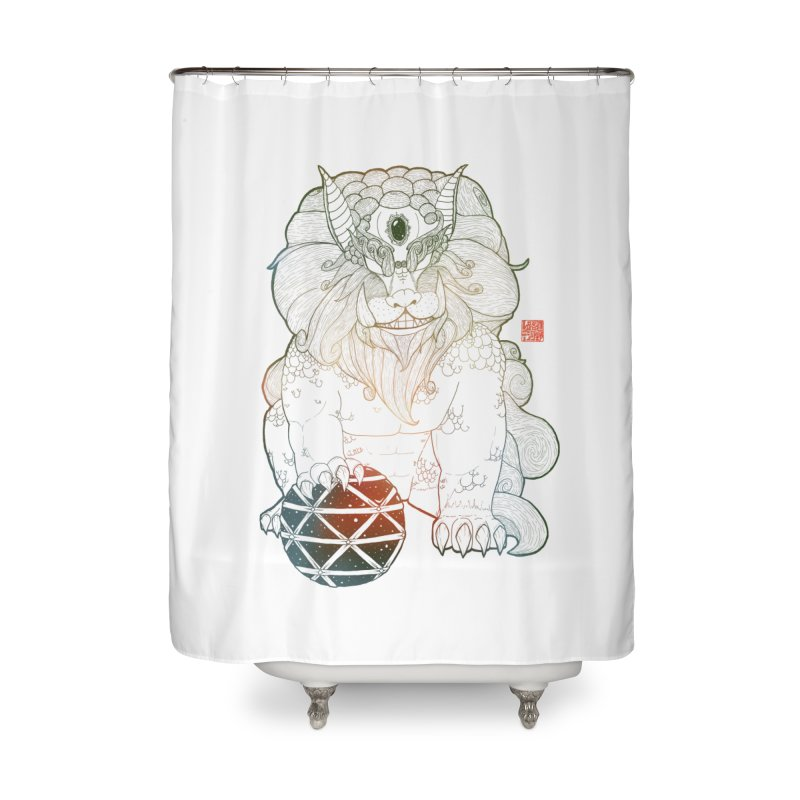 Shisa Home Shower Curtain by Lenny B. on Threadless