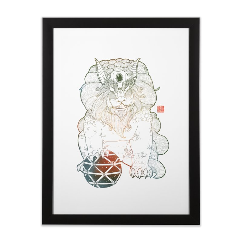 Shisa Home Framed Fine Art Print by Lenny B. on Threadless