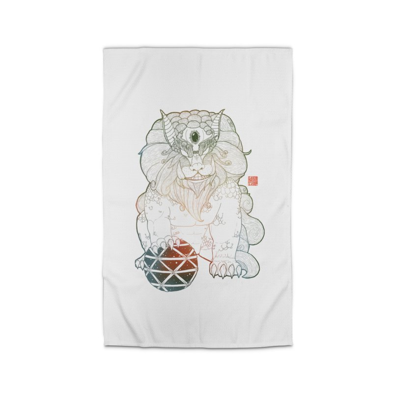 Shisa Home Rug by Lenny B. on Threadless