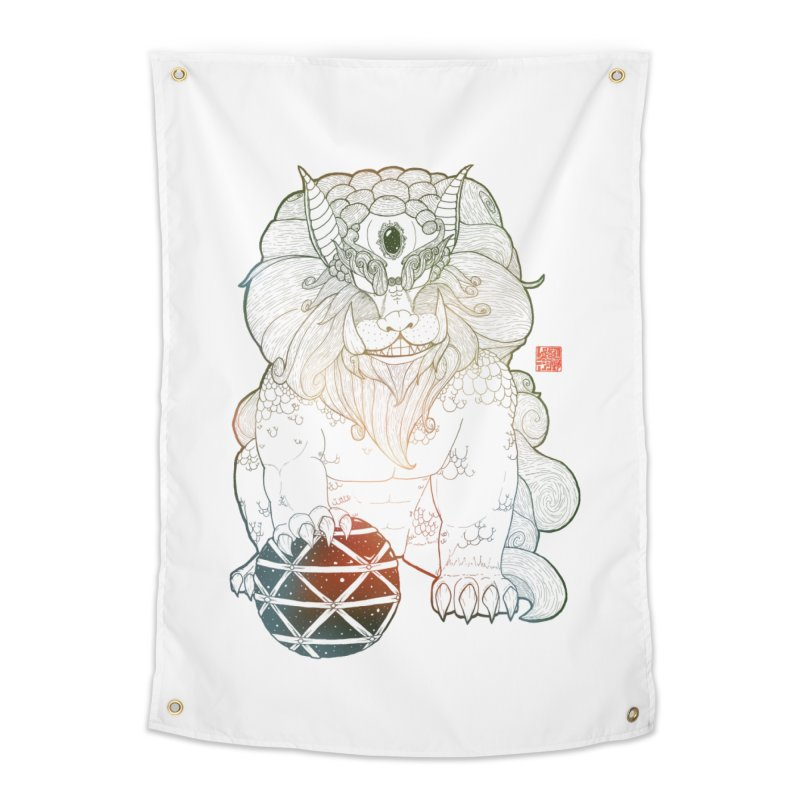 Shisa Home Tapestry by Lenny B. on Threadless