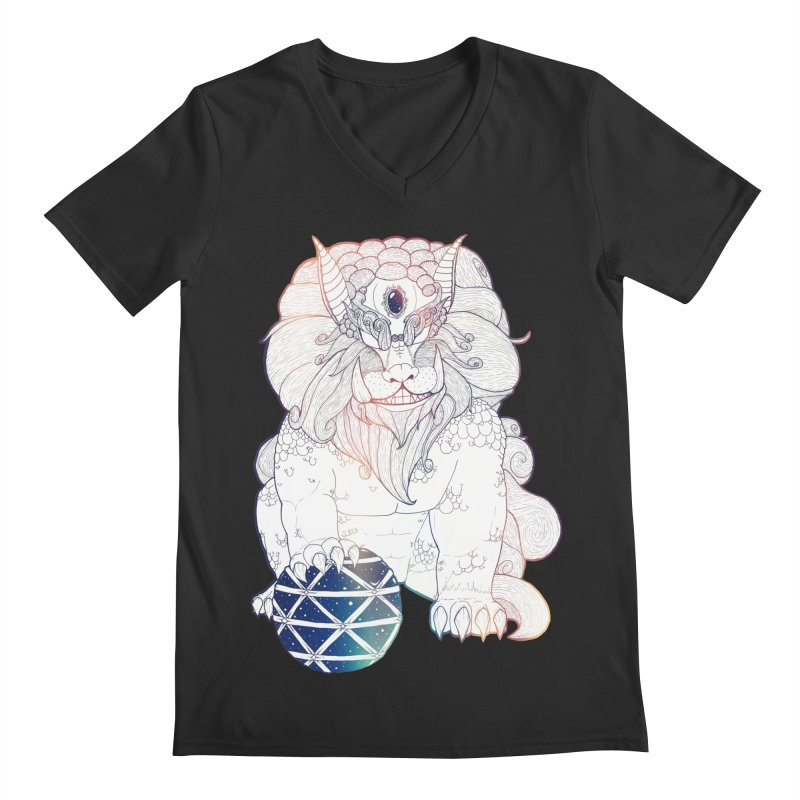 Shisa Men's V-Neck by Lenny B. on Threadless