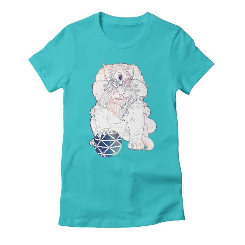 Shisa Women's Fitted T-Shirt by Lenny B. on Threadless