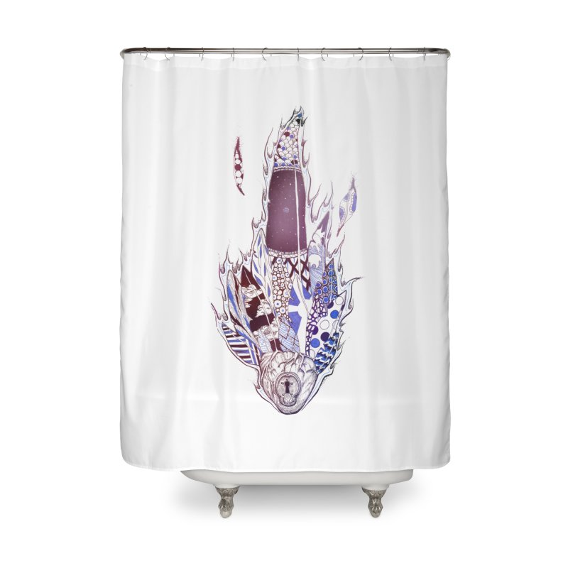 Mysteries of the Heart Home Shower Curtain by Lenny B. on Threadless