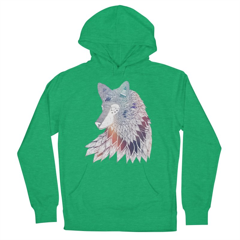 Lone Wolf Women's Pullover Hoody by Lenny B. on Threadless