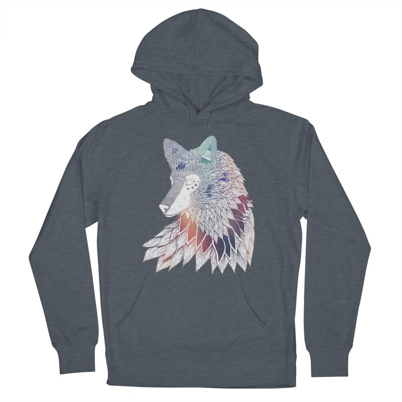 Lone Wolf Men's French Terry Pullover Hoody by Lenny B. on Threadless