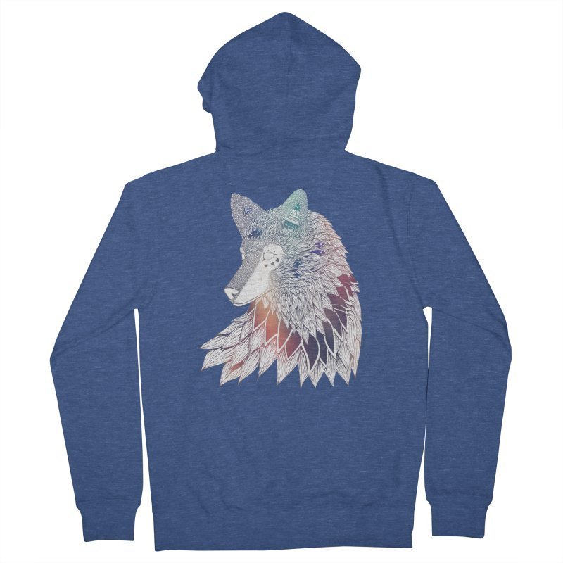 Lone Wolf Women's Zip-Up Hoody by Lenny B. on Threadless