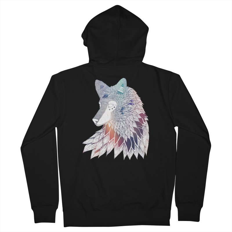 Lone Wolf Men's Zip-Up Hoody by Lenny B. on Threadless