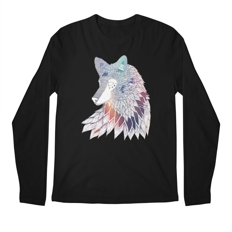 Lone Wolf Men's Longsleeve T-Shirt by Lenny B. on Threadless