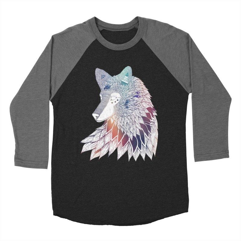 Lone Wolf Men's Baseball Triblend T-Shirt by Lenny B. on Threadless