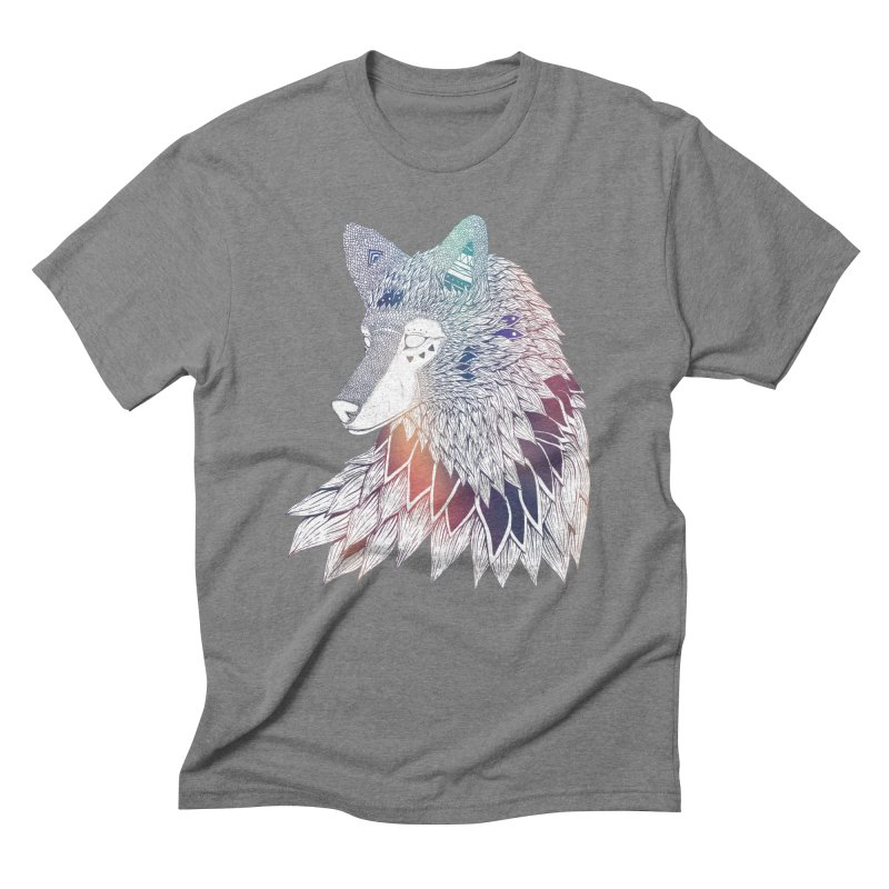 Lone Wolf Men's Triblend T-shirt by Lenny B. on Threadless