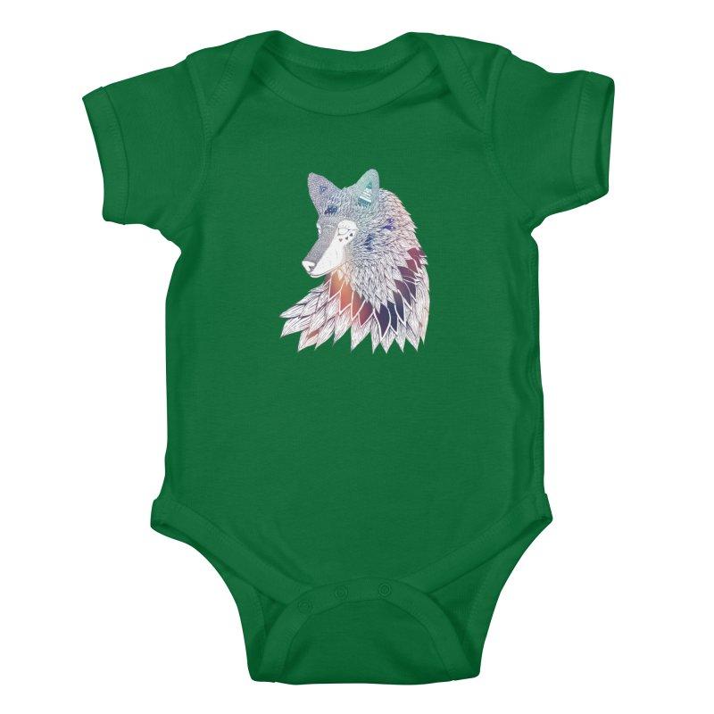 Lone Wolf Kids Baby Bodysuit by Lenny B. on Threadless