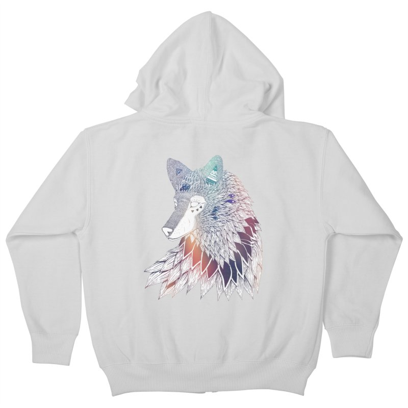 Lone Wolf Kids Zip-Up Hoody by Lenny B. on Threadless