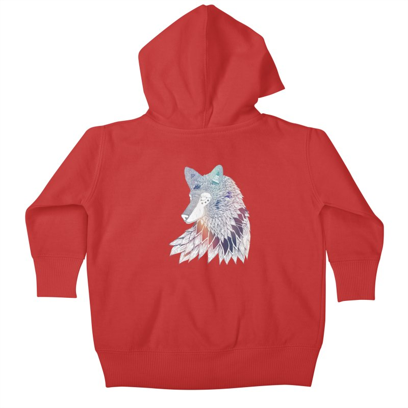 Lone Wolf Kids Baby Zip-Up Hoody by Lenny B. on Threadless