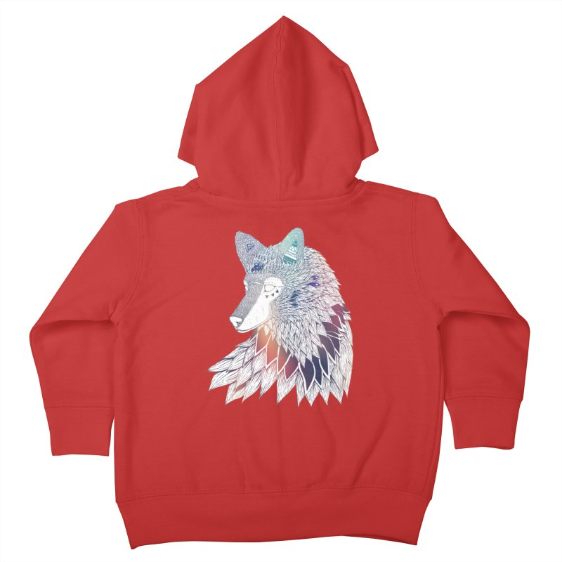 Lone Wolf Kids Toddler Zip-Up Hoody by Lenny B. on Threadless