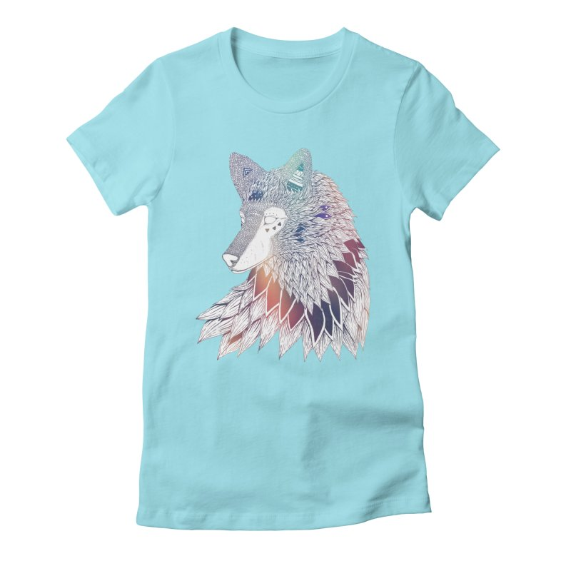 Lone Wolf Women's Fitted T-Shirt by Lenny B. on Threadless