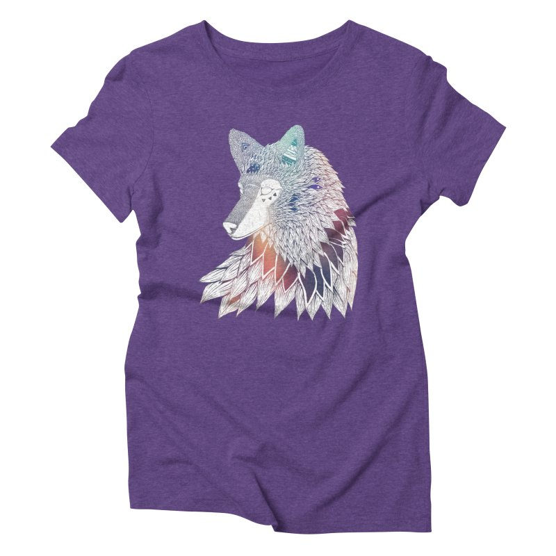 Lone Wolf Women's Triblend T-Shirt by Lenny B. on Threadless