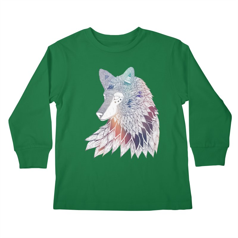Lone Wolf Kids Longsleeve T-Shirt by Lenny B. on Threadless