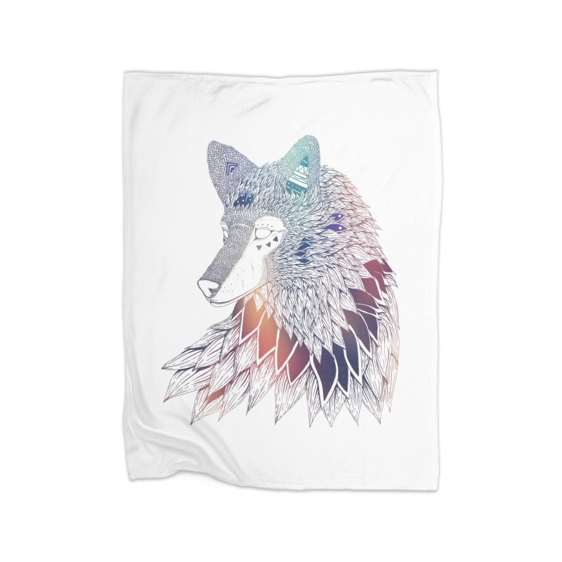 Lone Wolf Home Blanket by Lenny B. on Threadless
