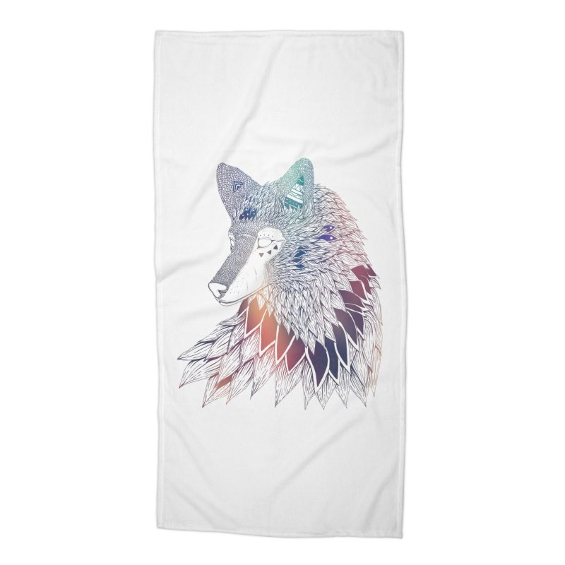 Lone Wolf Accessories Beach Towel by Lenny B. on Threadless
