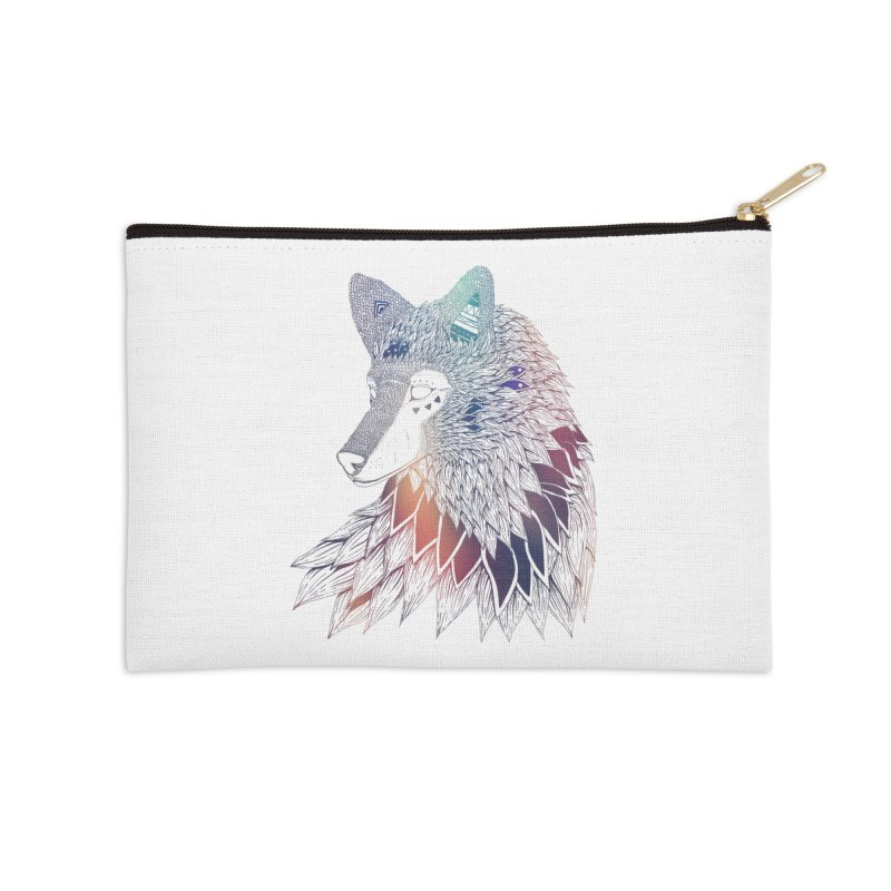 Lone Wolf Accessories Zip Pouch by Lenny B. on Threadless